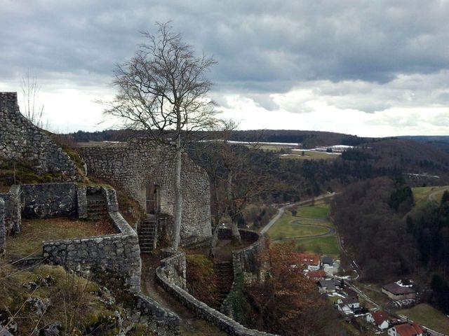 Mauerreste der Burg