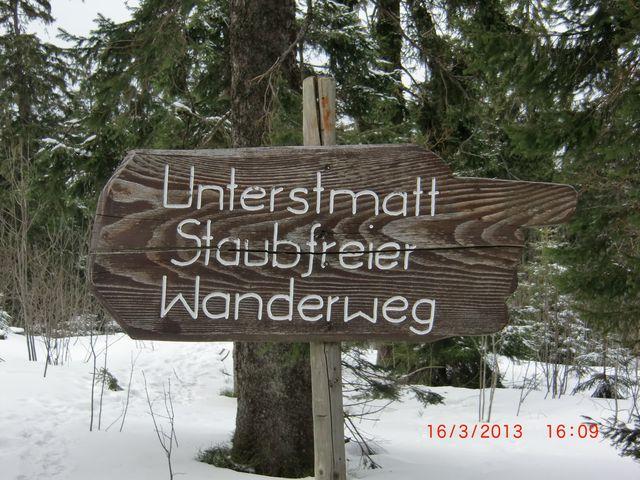 Staubfreier Wanderweg