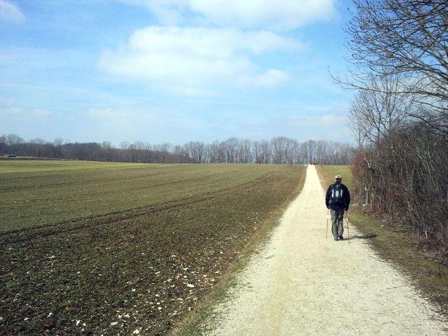 Start hinter Erkenbrechtsweiler