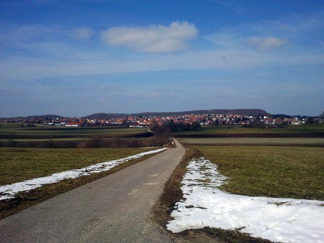 Weg zurück nach Erkenbrechtsweiler