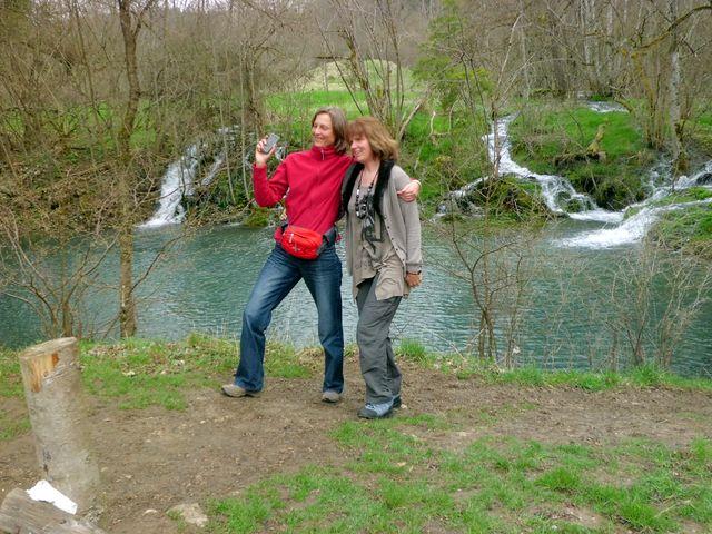 An den Wasserfällen