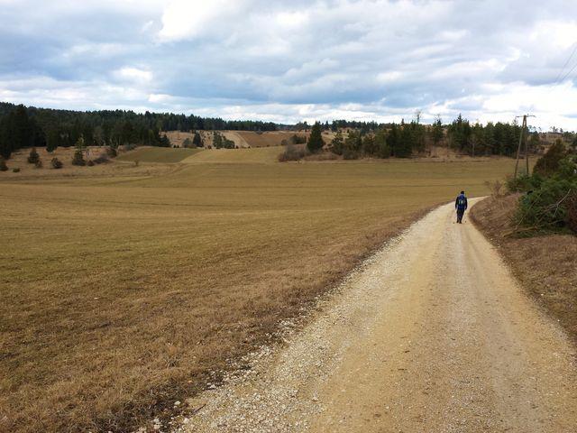 Weg zurück Richtung Hayingen