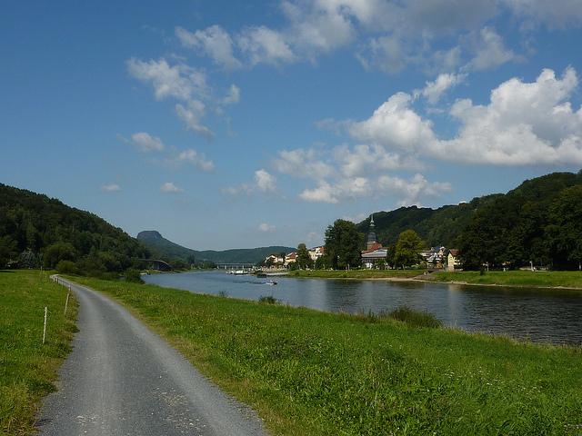 Radweg bei Bad Schandau