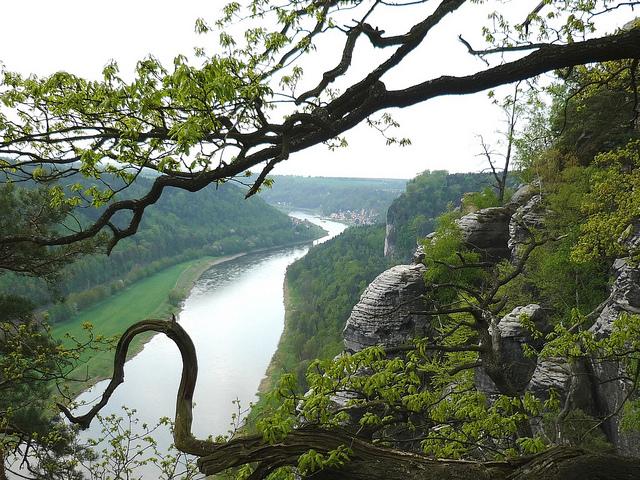 Ausblick über die Sächsische Schweiz